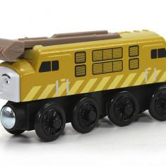 Trenulet de jucarie Fisher Price, 4-6 ani, Lemn, Unisex - Locomotiva Diesel 10, colectia Thomas si prietenii sai, Fisher Price