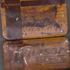 Cutie Reclama - Bnk div - Cutie metalica veche pentru bomboane Flavisan - SAPIC SA