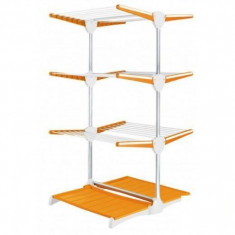 Jaluzea - Suport vertical pentru intins rufe portocaliu cu alb Meliconi - Junior