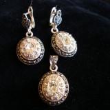 SET CERCEI SI MEDALION DIN ARGINT - Set bijuterii argint