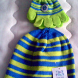 Caciula Copii - Caciula si manusi bebe Baby Tick Tock - IN STOC