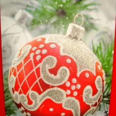 Ornamente Craciun - Punga / pungi cadou, model Sarbatori iarna Craciun 32/26/10 cm, 1 buc