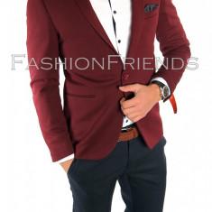 Sacou tip Zara Man grena - sacou barbati- sacou casual elegant- cod 5588