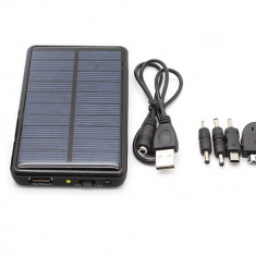 Incarcator telefon, Solar - Incarcator solar power bank 5000 mAh REDUCERE BLACK FRIDAY
