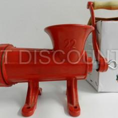 Masina de tocat carne nr 22 din fonta manuala Rosie