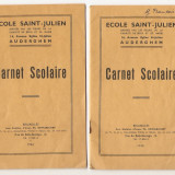 Pasaport/Document - CARNETE SCOLARE 2 BUC BELGIA 1947-1949