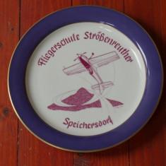 Farfurie portelan - scoala de aviatie Fliegerschule strößenreuther Speichersdorf