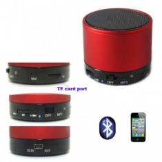 Boxe Telefon - ChinaTech Mini Boxa Bluetooth cu MP3 pentru Telefoane Mobile Rosu