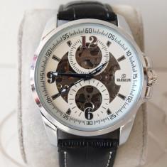 GOER ceasuri SKELETRON ceas AUTOMAT curea PIELE 14@ - Ceas barbatesc Rolex, Mecanic-Automatic