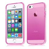 Husa silicon Apple iPhone 4 4S 0.3mm roz - Husa Telefon