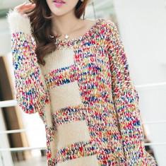 Bluza dama - BL266-3 Bluza casual cu mohair si tricot