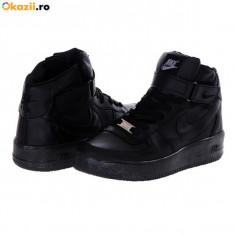 Ghete barbati - Ghete Nike air force one model casual negru monocrom model 2015