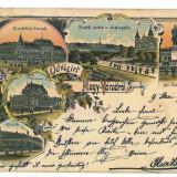 3050 - L i t h o, ORADEA - old postcard - used - 1898