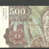 ROMANIA aprilie 1991 - BANCNOTA 500 LEI circulata, VF (serie 3113)