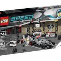 Vand LegoSpeedChampions-75911McLaren Mercedes Pit Stop, sigilat, 332 piese7-14 ani - LEGO Racers