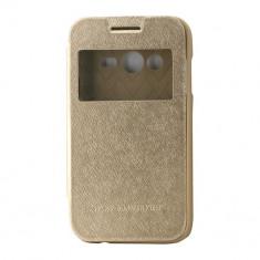 Husa Telefon Atlas, Auriu, Piele Ecologica, Toc - Toc My-Wow Samsung Galaxy Trend Lite2/Ace NXT Auriu