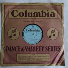 RAR! DISC EBONITA GRAMOFON/PATEFON COLUMBIA FABRICAT R.P.R. ORCHESTRA COLUMBIA - Muzica Populara Altele, Alte tipuri suport muzica