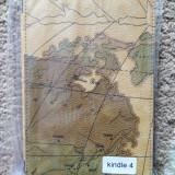 Husa kindle 5(cel cu 5 butoane jos) imprimeu harta lumii, model 1, noi