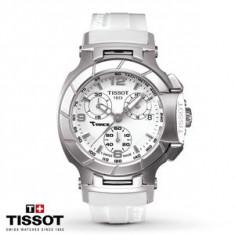 Ceas de Dama tissot, Lux - sport, Quartz, Inox, Diametru carcasa: 36, Cauciuc - Ceas Tissot T-SPORT T-Race Lady White