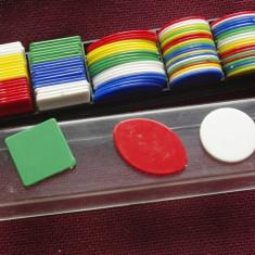 Fise / Jetoane de la un joc din perioada comunista - cutie originala - Joc colectie
