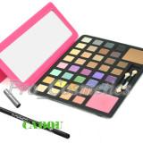 Trusa make up - Trusa Machiaj 38 culori MAC cu blush si pudra + CADOU Creion MAC