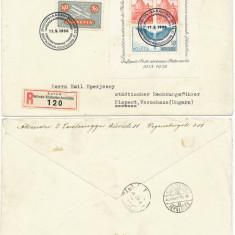 RFL 1938 Elvetia FDC colita expozitia filatelica Aarau efectiv circulat Ungaria, Europa