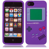 Game Boy Style Protective Silicone Cover Case for iPhone 5 Purple WW87006997