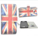 husa Samsung Galaxy J7 portofel carte flip cu steagul ANGLIEI GREAT BRITAIN