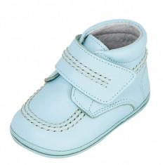 Ghete copii - Ghetute bleu din piele 16 (9.5 cm) Leon Shoes
