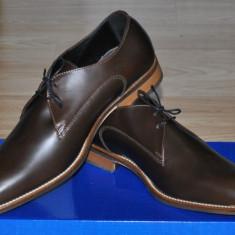 Charles Tyrwhitt UK Pantofi Eleganti Barbati Maro Inchis Marime 40, 5/41 - Pantofi barbati, Piele naturala