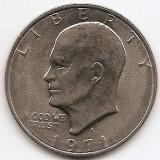 "Statele Unite (SUA) 1 Dolar 1971 - ""Eisenhower Dollar"", 38.1 mm, KM-203 (2), America de Nord, An: 1971"