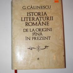 Istoria literaturii romane de la origini pana in prezent - G. Calinescu - Studiu literar