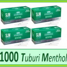Foite tigari - 1000 tuburi KORONA SLIM MENTHOL - tuburi pentru tigari, filtre tigari