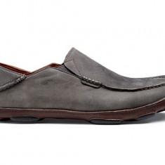 Pantofi piele intoarsa cerata Olukai Moloa antracit 43 - Pantofi barbati, Culoare: Din imagine
