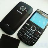 Carcasa Nokia C3 carcasa completa cu tastatura Nokia C3 neagra black - Husa, Negru