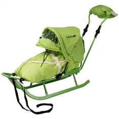 Sanie Adbor - Saniuta Piccolino DeLux cu Saculet Verde