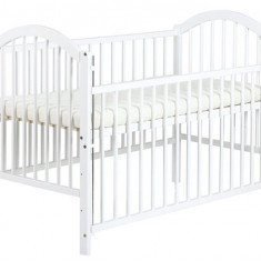 Patut Copii Din Lemn Klups Ewelina I Alb Cu Laterala Culisabila - Patut lemn pentru bebelusi