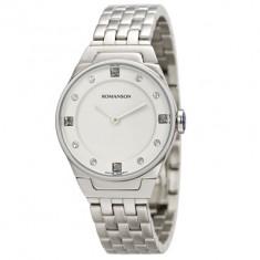 Ceas Romanson dama cod RM3209 LW-WH - pret 839 lei; NOU; Original. - Ceas dama Romanson, Elegant, Quartz, Inox, Analog