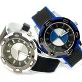 Ceas barbatesc, Sport, Cauciuc - Ceas BMW emblema curea din silicon finisaje de calitate, albastru
