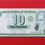 bancnota america, An: 2002 - NICARAGUA - 10 Cordobas 2002 - UNC