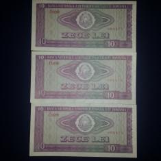 Bancnote Romanesti, An: 1966 - 10 Lei 1966 3 Serii Consecutive