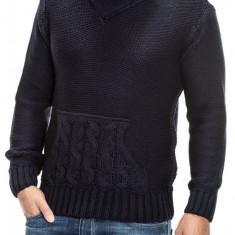 Pulover Tricotat Barbati Carisma Bleumarin 7112 - Pulover barbati Carisma, Marime: M, L, XL, Culoare: Din imagine