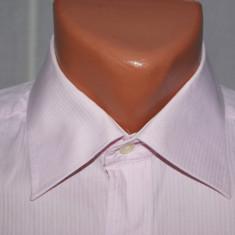 Camasa barbati BALMAIN Paris marimea 39 - 40 / M culoarea roz in dungi, Maneca lunga