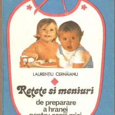 Carte Retete pentru bebelusi - Retete si Meniuri de preparare a hranei pentru copiii mici