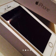 Vând iPhone 6 Apple gold 64gb lcd spart, Auriu, Neblocat