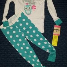 Noua! Pijama cu bufnita, OSHKOSH, fetite 3 ani, Culoare: Multicolor, Fete