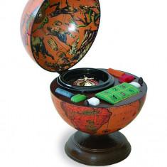 Glob pamantesc de birou cu joc de ruleta si jetoane 33 cm