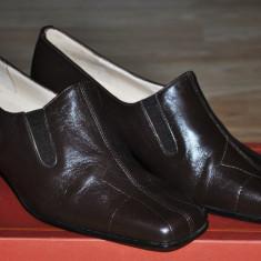 Pantofi dama, Piele naturala - BELAIR Pantofi Femei Piele Naturala(manusa) Calapod foarte bun, Usori, Marime 37