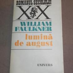 LUMINA DE AUGUST de WILLIAM FAULKNER 1973