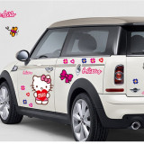 Sticker Hello Kitty Decoratiune Perete Masina Autocolant Camera Copilului